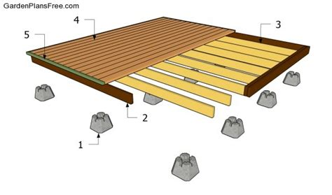 10x10 Freestanding Deck Plans by Free Standing Deck For The Front Of The House If