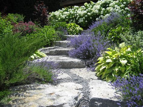 gardening on a hillside purple hillside garden gorgeous gardens pinterest