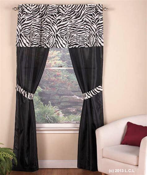 zebra print drapes zebra curtain set in stock animal print black white