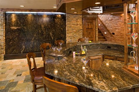 Bar With Granite Top - bars traditional basement other by