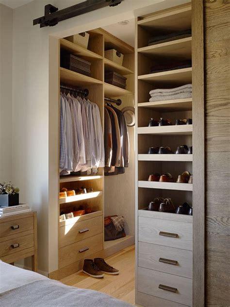 the rustic modernist bedroom walk through closet modern