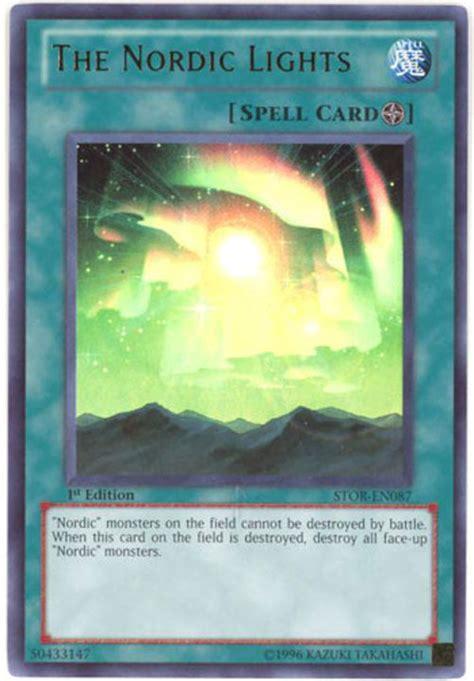 yu gi  card stor en  nordic lights ultra rare