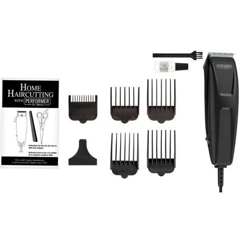 home haircut kit wahl cut performer 10 haircutting kit in black 2660
