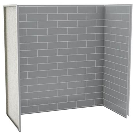 bath shower wall panel metro ash grey rona