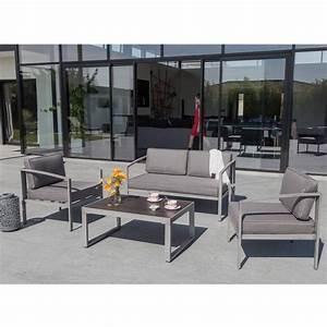 Salon De Jardin Bas : salon de jardin bas trieste 1 canap 2 fauteuils ~ Voncanada.com Idées de Décoration