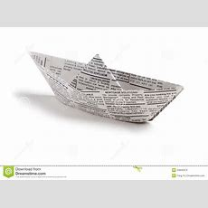 Newspaper Boat Stock Images  Image 24845374