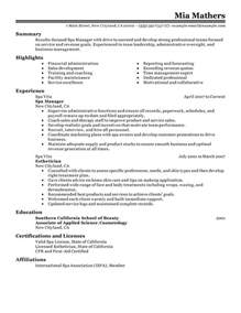 day spa resume sles best salon spa or fitness manager resume exle livecareer