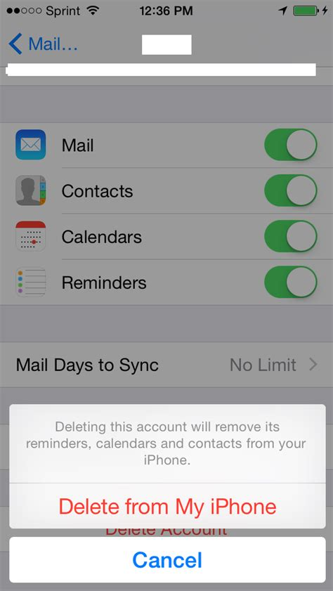 delete data from iphone removing your hosted exchange account from an iphone