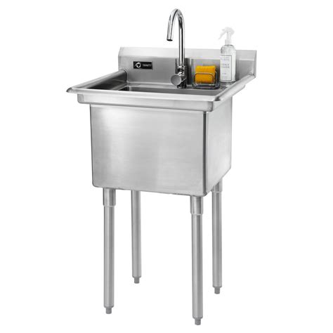 Home Depot Utility Sink by 23 In W X 23 In D X 46 In H Stainless Steel