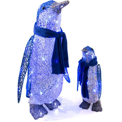 shop gemmy lighted penguin outdoor christmas decoration