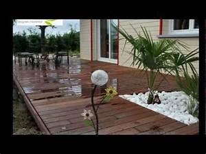 Terrasse Bois Exotique : terrasse contemporaine en bois exotique youtube ~ Melissatoandfro.com Idées de Décoration