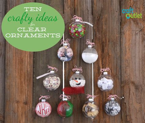 10 crafty ideas for clear ornaments craft outlet