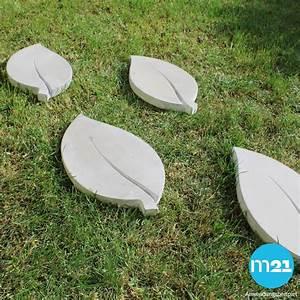 Große Steine Für Garten : xxl trittsteine gro e bl tter garten 1 paar tritt steine beton 35x18 cm kaufen matches21 ~ Sanjose-hotels-ca.com Haus und Dekorationen