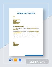 Formal Resignation Letter Template with 2 Weeks Notice ...