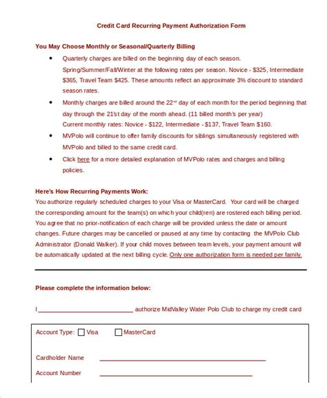 sample credit card authorization form charlotte clergy