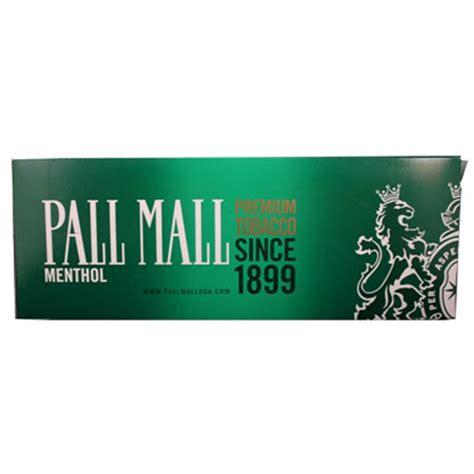 pall mall menthol  box rj reynolds cigarettes