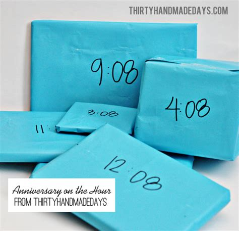 anniversary gifts anniversary gifts on the hour thirty handmade days