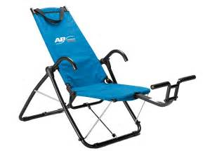 new ab lounge sport abdominal fitness exerciser chair workout dvd included ebay
