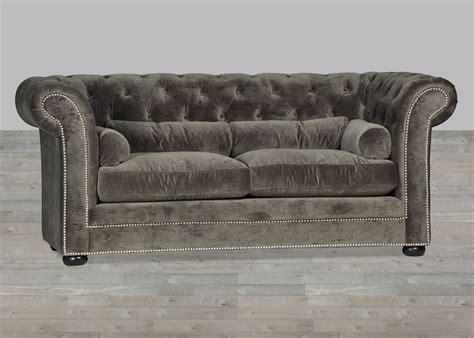 velvet chesterfield sofa grey velvet sofa chesterfield style silver button tufted