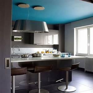 indogate com decoration cuisine bleu et jaune avec couleur With idee deco cuisine avec deco sur mur gris