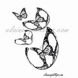 Grey Scale Butterfly Coloring Lovers Colouring Printable sketch template