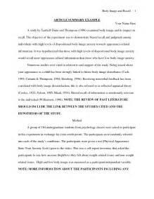 Article Summary Example