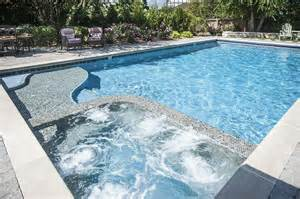 Inground Pools with Hot Tubs