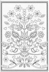 Jacobean Coloring Embroidery Patterns Floral Pages Fun Para Pattern Scandinavian Annaspencerphotography Designs Bordado Ak0 Folk Books Colouring Furniture Adult Painted sketch template