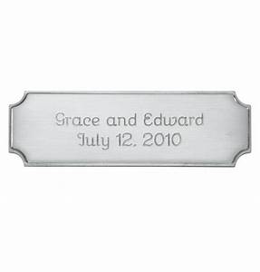 Personalized Thin Silver Plaque - Photo Accessories