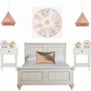 rose gold room decor - Polyvore