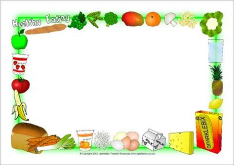 healthy eating borders  cute  page borders