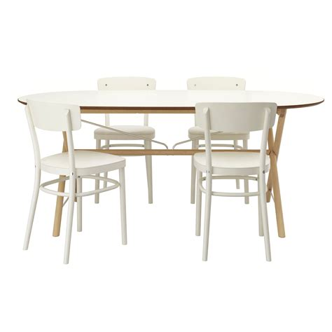 idolf sl 196 hult dalshult table and 4 chairs birch white 185