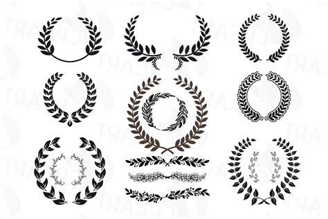 laurel wreath clipart monogram frames silhouette soidergi