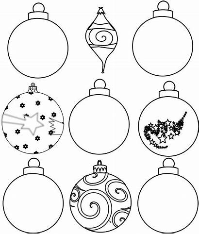 Ornaments Christmas Outline Printables Colour Ornament Clip