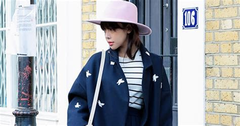 stylenanda bird embroidered woolen boxy coat kstylick