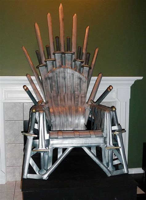 diy furniture make your own iron throne