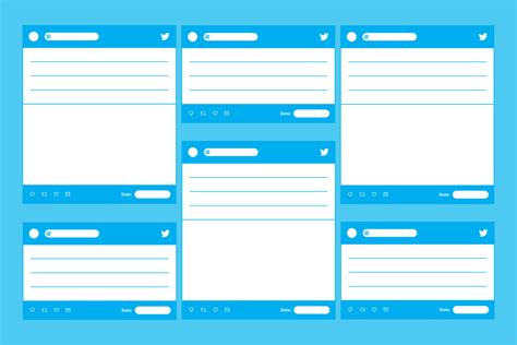 Twitter Template Download For Word by Tweet Templates Paperzip