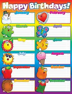 classroom decorations for kindergarten students With birthday chart template for classroom