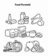 Pyramid Coloring Foods Glow Grow Drawing Printable Healthy Cereal Tablet Sheets Yogurt Fruit Clipart Nutrition Worksheet Azcoloring Printables Activities Getcolorings sketch template