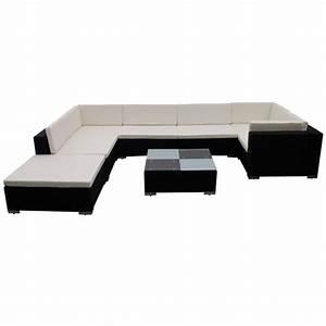 Polyrattan Lounge Set : vidaxl 24 piece garden lounge set black poly rattan ~ Whattoseeinmadrid.com Haus und Dekorationen