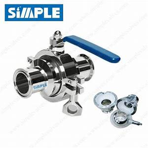 Tri Clover Ball Valve  Cavity Filled Ball Valve  Manual