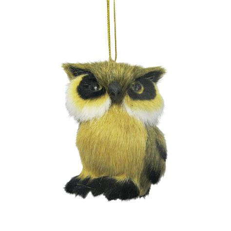 donner blitzen incorporated furry owl christmas ornament