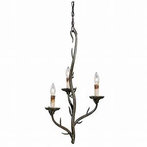 Rustic chandeliers monterey single branch chandelier with for Lowes branch floor lamp