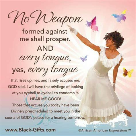 no weapon formed against me shall prosper my king my