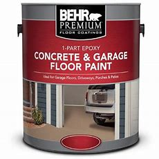 Behr Premium 1 Gal White 1part Epoxy Concrete And Garage
