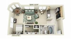Studio apartment floor plans for Small studio apartment floor plans