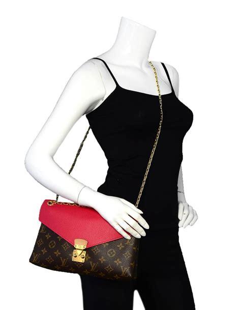 louis vuitton monogramleather pallas chain flap bag  sale  stdibs