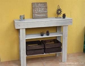 Plan Meuble Palette : console en bois de palettes meubles palettes and co ~ Dallasstarsshop.com Idées de Décoration