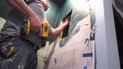 building a shower niche how to build a recessed niche in a shower