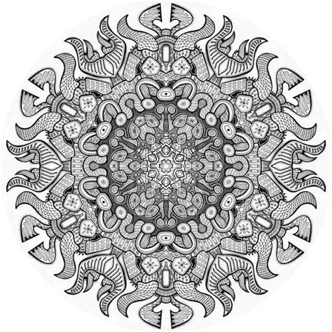 Printable Advanced Coloring Pages Mandala Nature Etc
